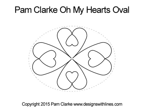 Pam clarke oh my hearts oval quilt pattern