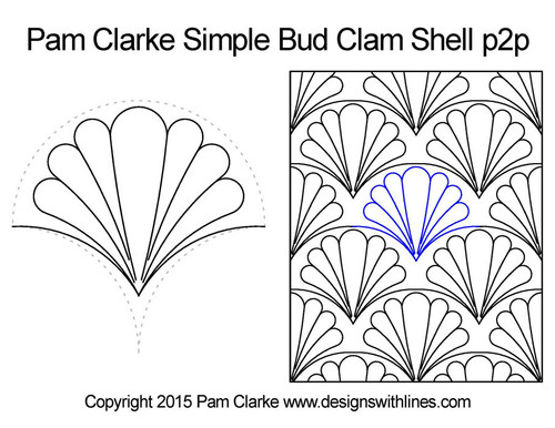 Pam clarke simple bud clam shell quilt pattern
