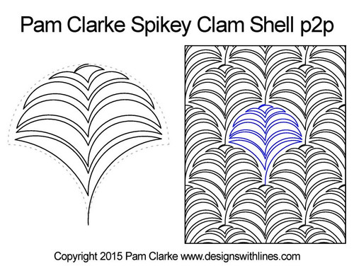 Pam clarke spikey clam shell quilt pattern