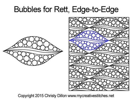 Bubbles for Rett, Edge-to-Edge