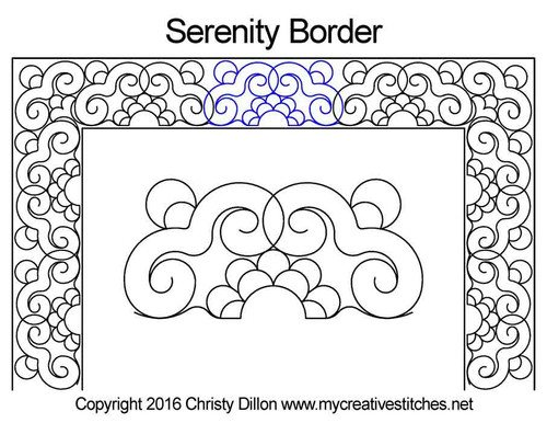 Serenity border quilting design