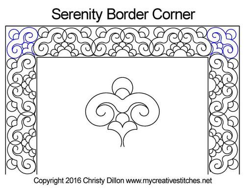 Serenity border & corner quilt pattern