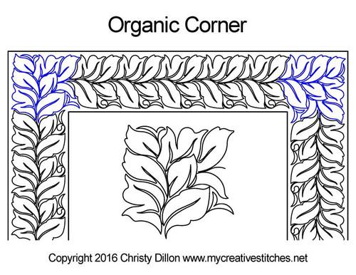Organic corner quilt pattern
