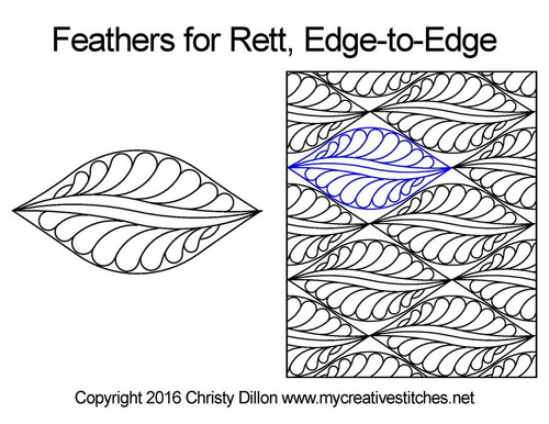 Feathers for rett edge to edge quilting design