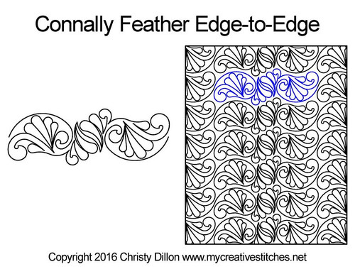 Connally feather edge to edge quilt designs