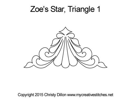 Zoe's star triangle 1 computerized quilt design