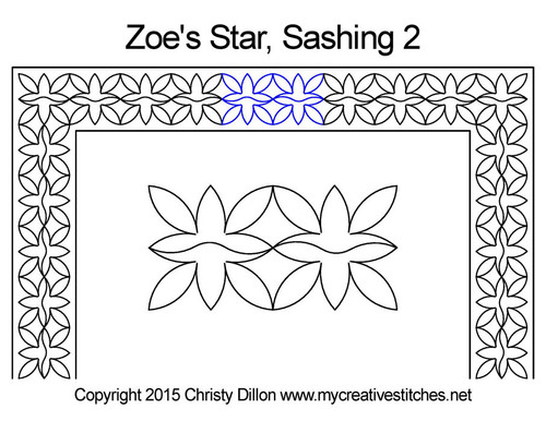 Zoe's star triangle quilting pattern