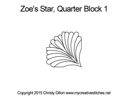Zoe's quilting designs for star blocks