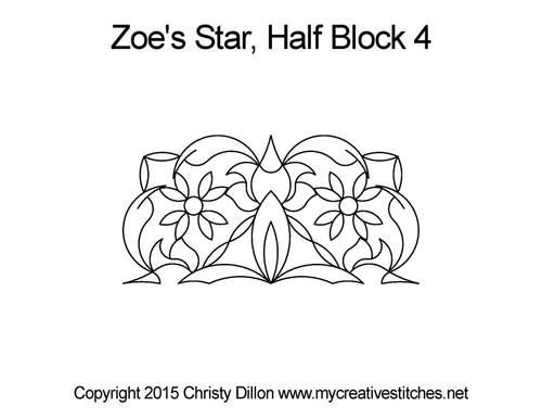 Zoe's star half block 4 quilt pattern
