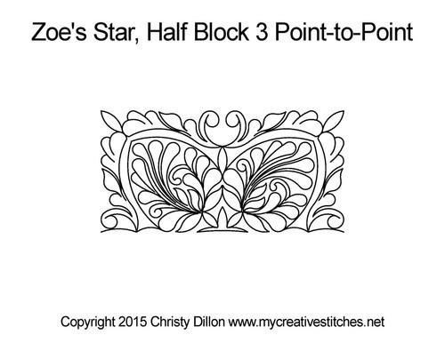 Zoe's star half block 3 p2p quilt pattern
