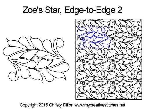 Zoe's star edge to edge 2 longarm quilting pattern