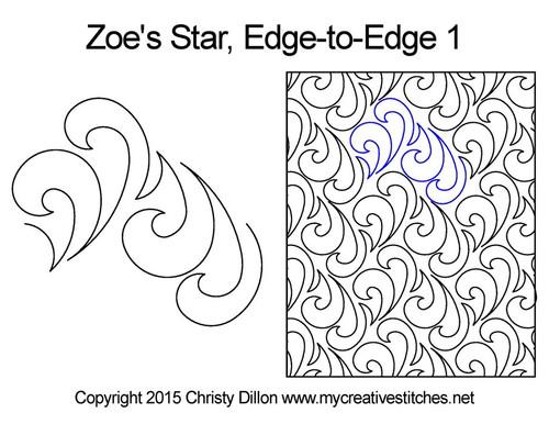 Zoe's star edge-to-edge quilt pattern