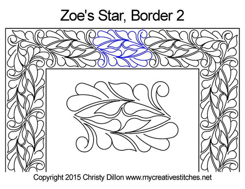Zoe's star border 2 quilting patterns