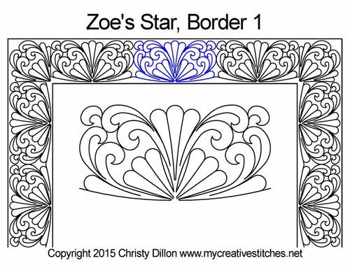 Zoe's star border quilting patterns