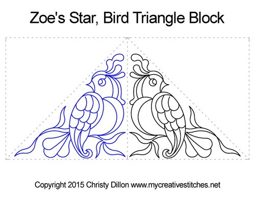 Zoe's star bird triangle block quilting