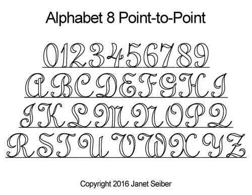 Digital alphabet 8 p2p quilting design