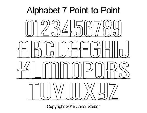 Digital Alphabet 7 p2p quilting designs
