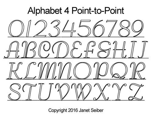 Digital Alphabet 4 p2p quilting designs