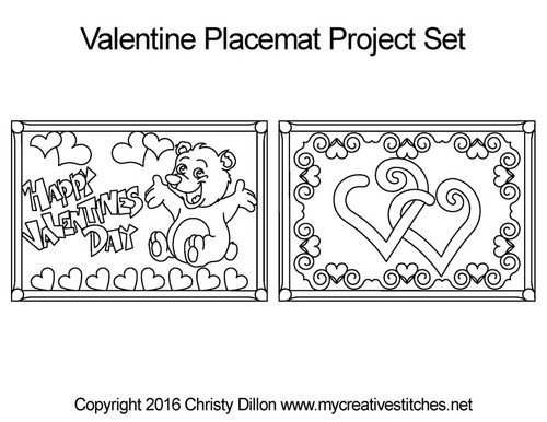 Valentine's day Project Placemats