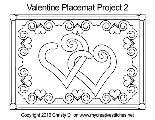 Valentine's Free Project Placemats