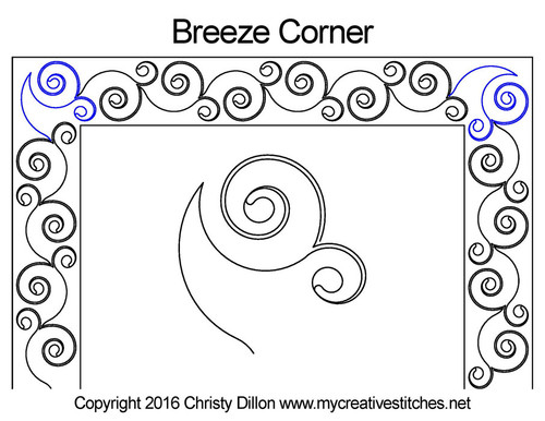 Breeze corner quilting pattern