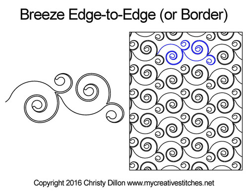 Breeze edge-to-edge quilting pattern