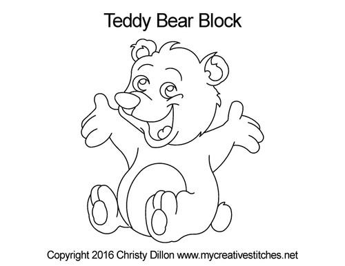 Teddy bear block quilting pattern