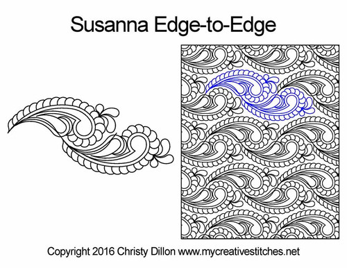 Susanna edge to edge quilt patterns
