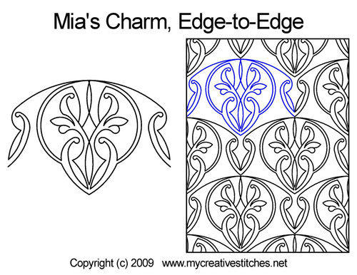 Mia's charm edge to edge quilt designs