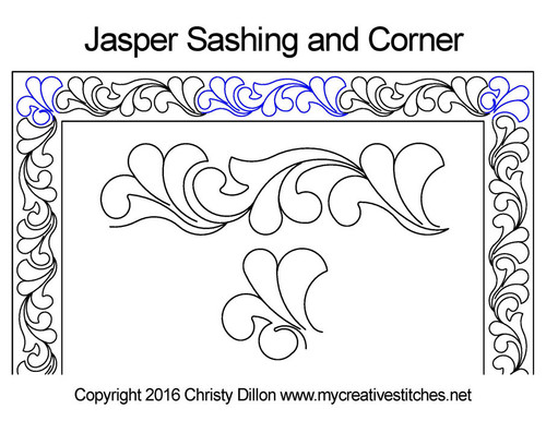 Jasper sashing & corner quilt pattern