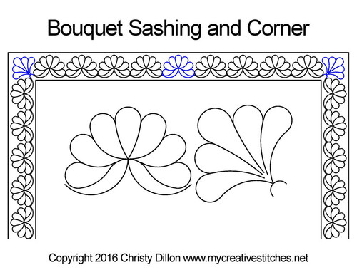 Bouquet sashing & corner quilt pattern