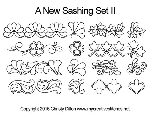 A new computerized sashing quilting pattern 2