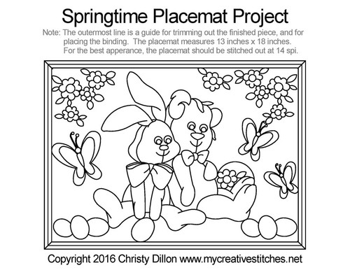 Springtime placemat free quilting projects