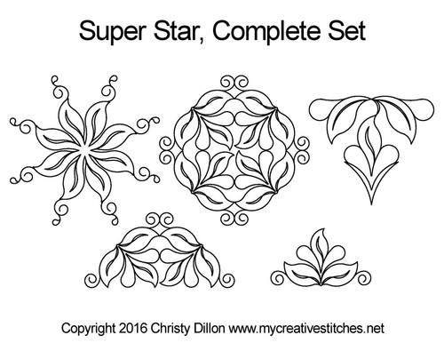 Super star computerized quilt pattern set