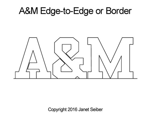A&M edge to edge digital quilt pattern or border