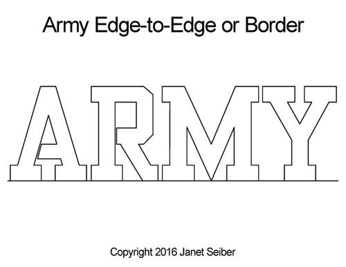 Janet Seiber ARMY Edge-to-Edge or Border