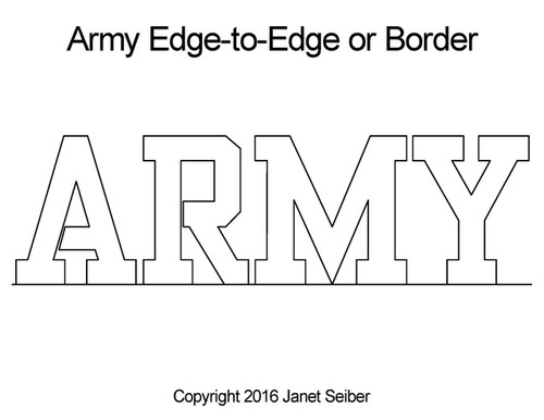 Army edge to edge digital quilt designs