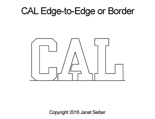 CAL edge to edge digital quilt pattern or border