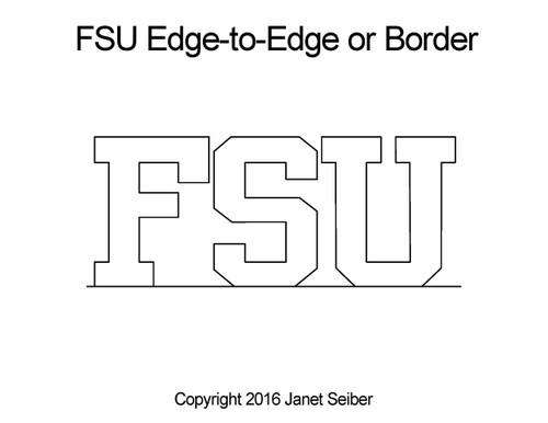 FSU edge-to-edge quilt pattern or border