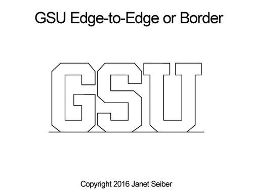 GSU edge to edge digital quilt pattern or border