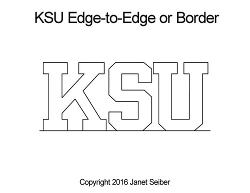 KSU edge-to-edge quilting pattern or border