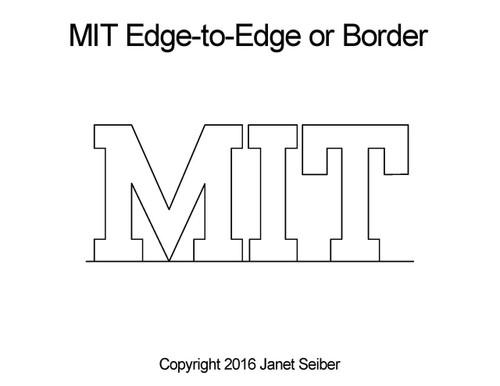 MIT edge to edge digital quilt design or border