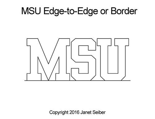 MSU edge to edge digital quilt design or border