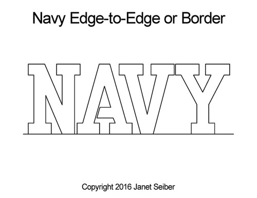 Janet Seiber NAVY Edge-to-Edge or Border