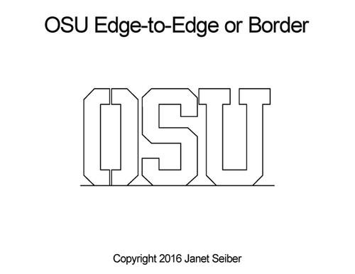 OSU edge to edge quilt designs or border