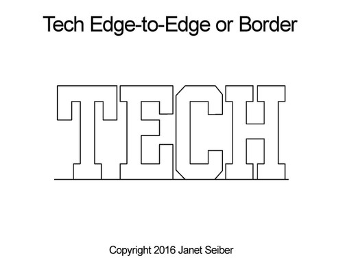 Tech edge to edge digital design or border