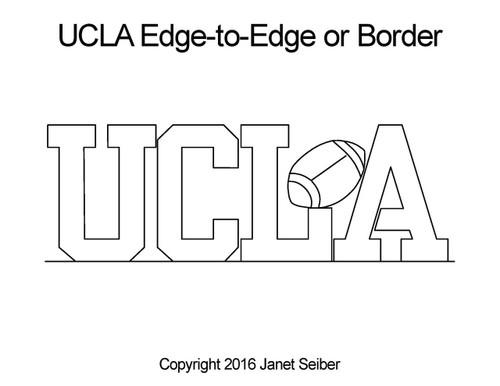 UCLA edge to edge design or border