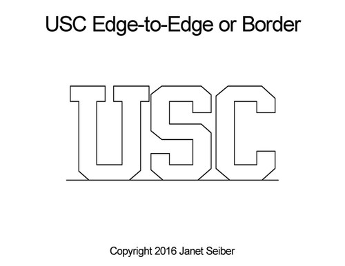 USC edge-to-edge quilt designs or border