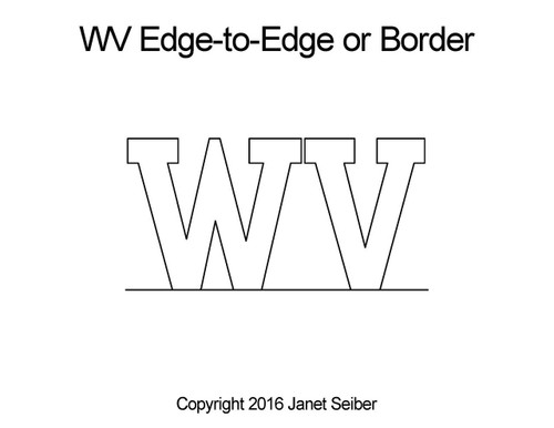 WV edge to edge quilting patterns or border