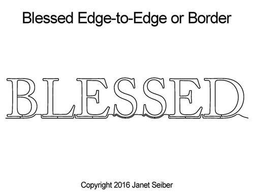 Blessed edge to edge quilting designs & border